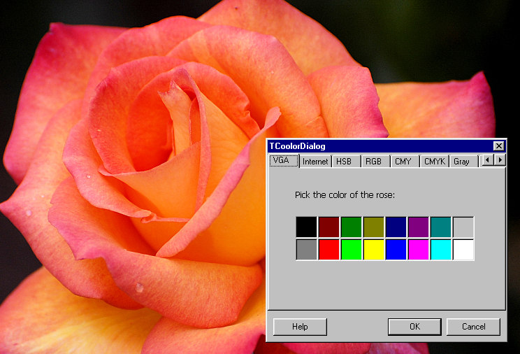 Using human language to describe God's attributes is like using a 16-color palette to describe a rose