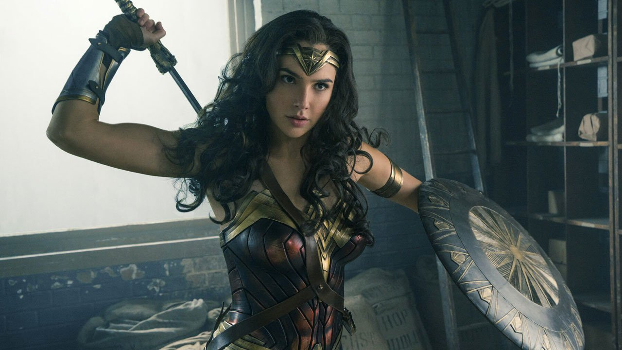 Wonder Woman wearing keli geber